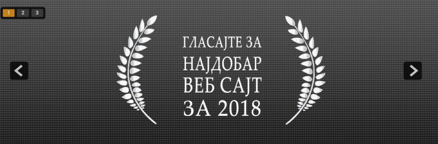 Избор на сајт на годината 2018